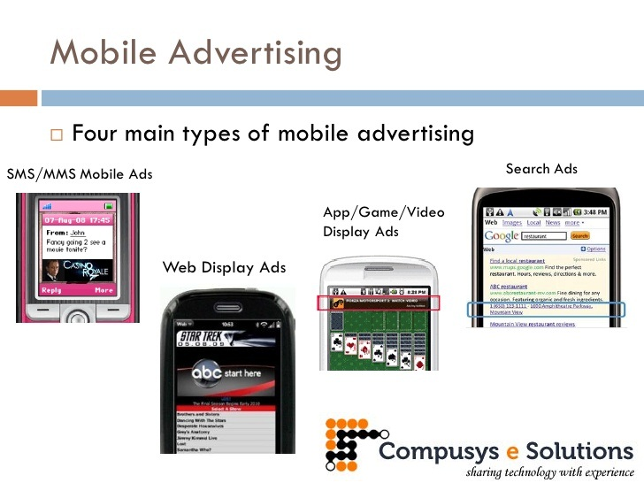 Solutions we provide for mobile advertising services