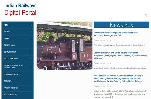 Indian Railways Digital Portal