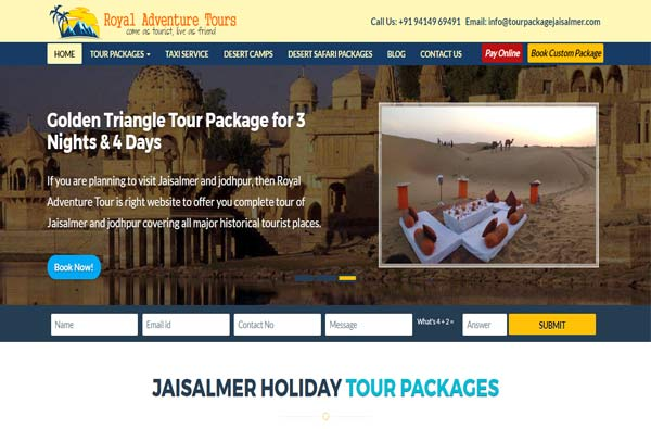 Tour Package Jaisalmer