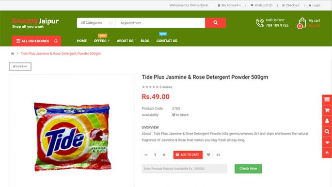 Grocery Jaipur